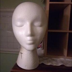 Manican Head w/Metal Wig Stand & NEW Chin Strap